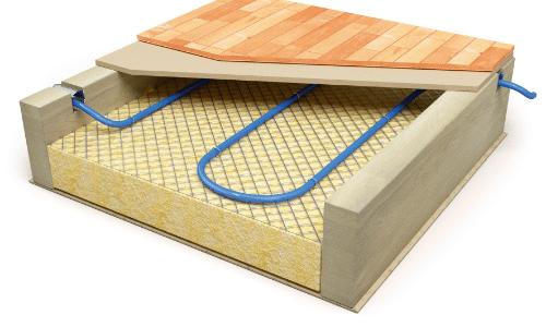 Tile Over Tile: Radiant Heated Bathroom Floor